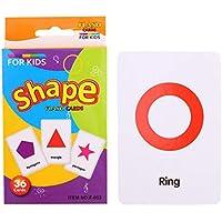 B Blesiya フラッシュカード ワードカード カードゲーム 英語 語彙 形状/動物/カラー 36枚 全3種 - 形状