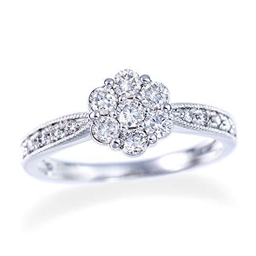 [ジュエリーツツミ]JEWELRY TSUTSUMI プラチナダイヤモンドリング LFR350 11号