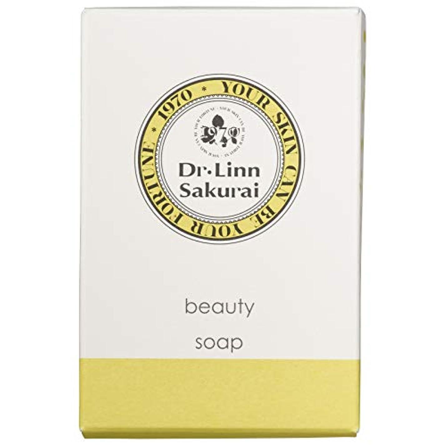 我慢するキャロライン中央値ドクターリンサクライ 洗顔石鹸 ビューティソープ (90g)