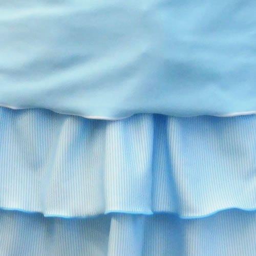 パーソンズロゴボーダー柄ノースリーブシャツ・スカート付タンキニ4点女の子水着0361150BL