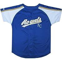 MLB Boy 'sカラーブロックボタンダウンジャージー ブルー