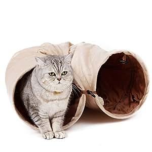 PAWZ Road キャットトンネル 猫トンネル キャット玩具 スエード 2穴