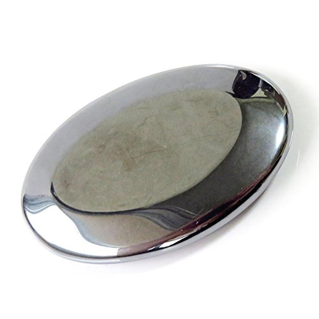 しっとりハチ存在エステ業界も注目 テラヘルツ鉱石かっさプレート 楕円型