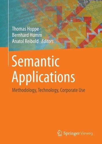 [画像:Semantic Applications: Methodology, Technology, Corporate Use]