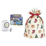 ディズニー&ディズニー/ピクサーキャラクターズ Dream Switch(ドリーム スイッチ)50ストーリーズ + インディゴ クリスマス ラッピング袋 グリーティングバッグLL ハッピークリスマス XG497