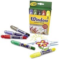 Crayola Washable Windowクレヨン、5 / Set