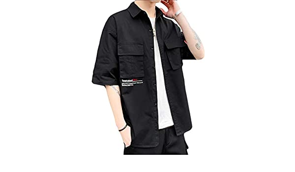 Keaac Mens Military Dress Shirt Short Sleeve Button Down Shirts