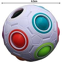 baynne Unique Kid球状レインボーボールフットボールマジックおもちゃカラフルブロックおもちゃ