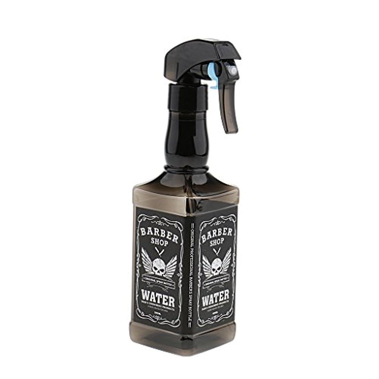 ルーフアイロニー香ばしいスプレーボトル プラスチック製 ヘアスプレー ボトル サロン 美容院 水スプレー 500ml 3色選べ - ブラック