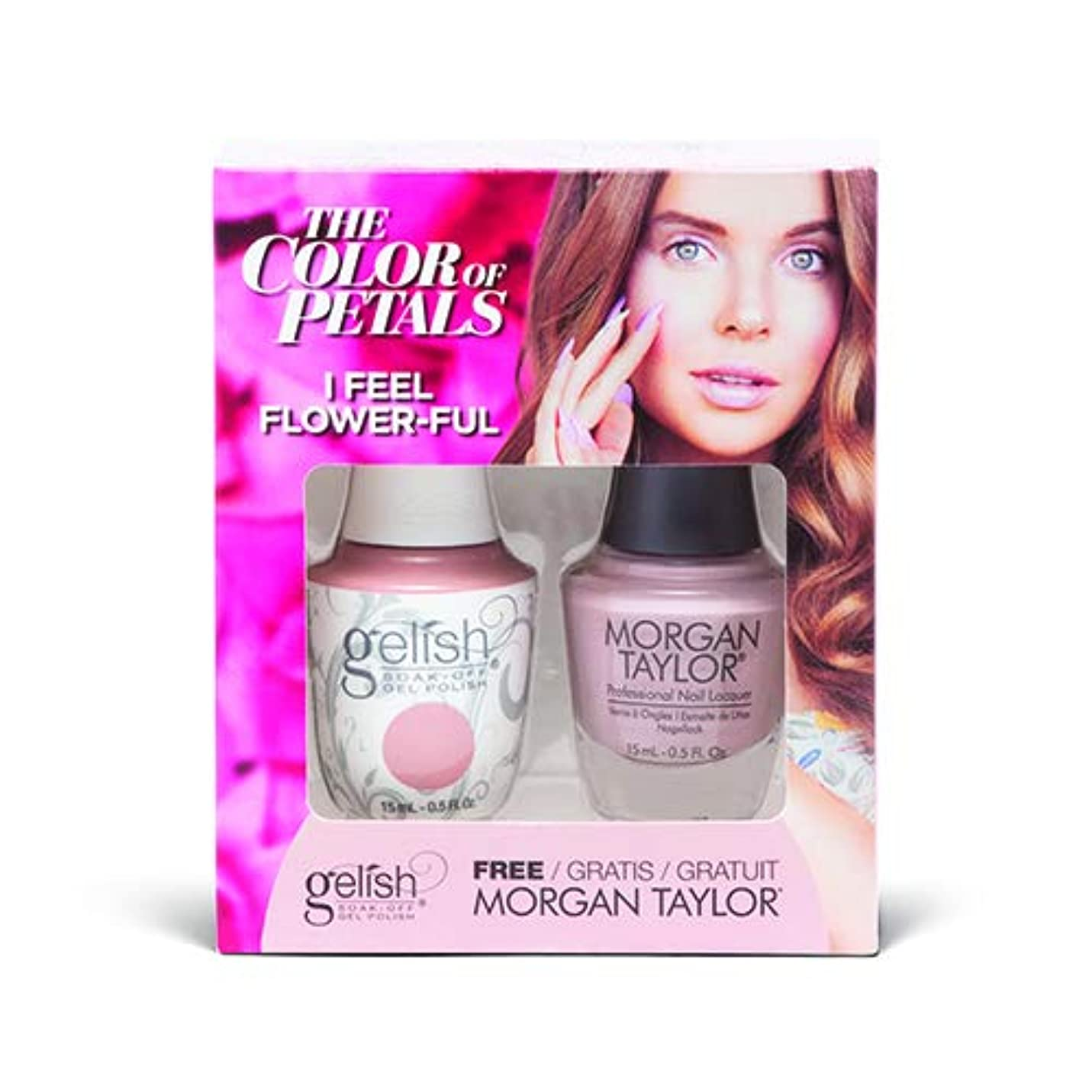全部リーズ理想的Harmony Gelish - Two Of A Kind - The Color Of Petals - I Feel Flower-ful - 15 mL / 0.5 Oz