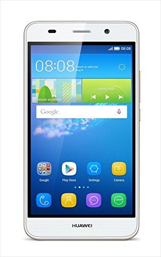 【日本正規代理店品】HUAWEI Y6 (Android5.1 + EMUI 3.1/5.0インチHD/800万画素/Qualcomm MSM8909 4コア(1.1GHz)/ MicroSim / ホワイト SCL-L02-WHITE