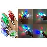 【 光の残影を楽しむ  】 LED フィンガー レーザー ライト [ 4個 セット ]