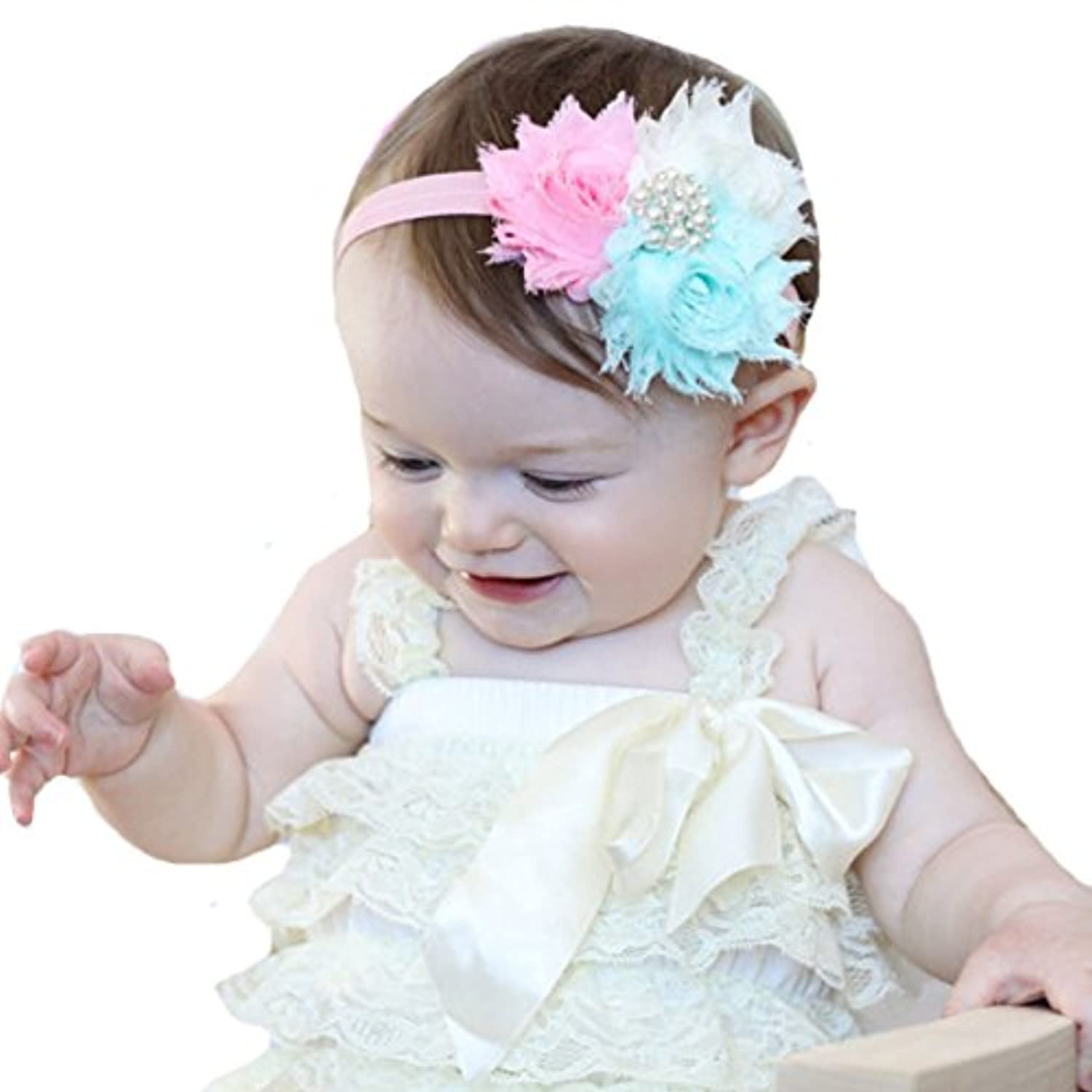 miugle Baby Girl Shabby Chicヘッドバンドwith Bows