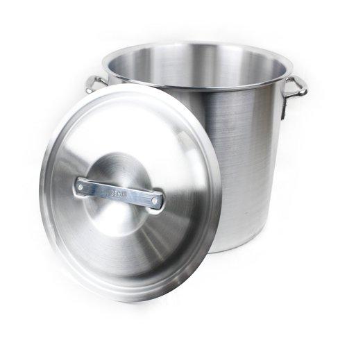 高品質 アルミ 製 寸胴鍋 ( ずんどう なべ ) 54cm フタ有 業務用 の ガスコンロ 対応蓋付き 鍋