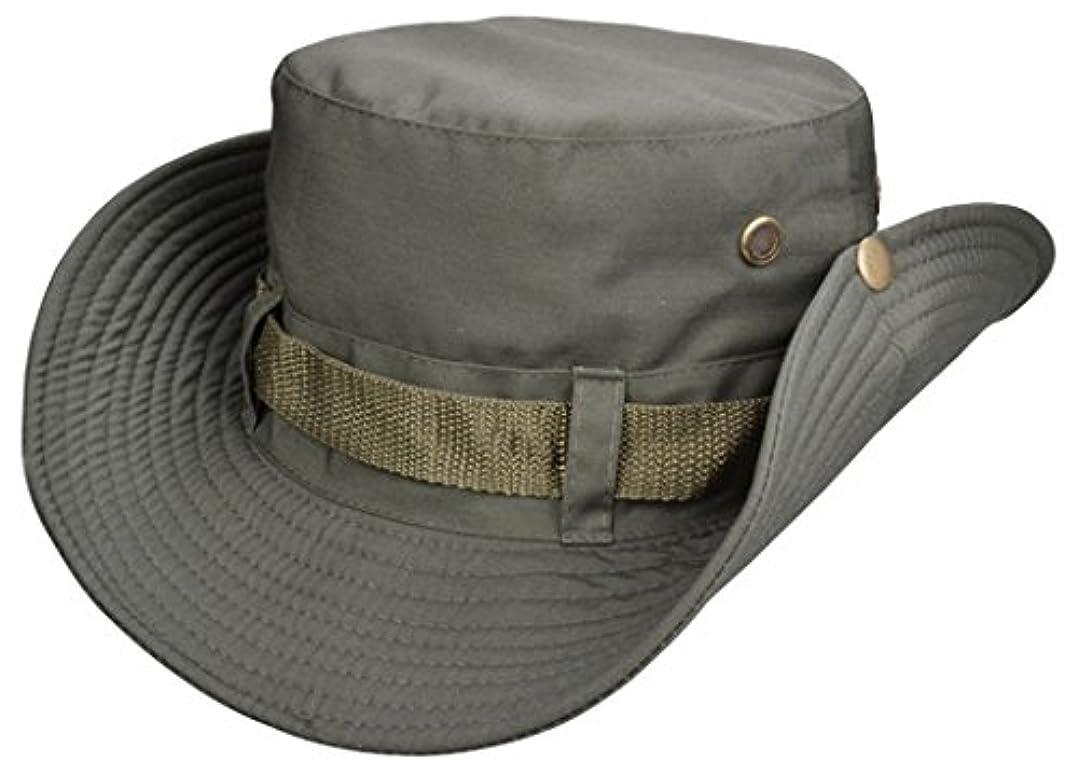 キャロライン実用的排泄物Fullthings メンズコットンサファリハット 帽子 登山 釣り