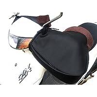 (nakira) ハンドルカバー スクーター用 バイク ハンドルウォーマー 汎用 (ブラック 黒)