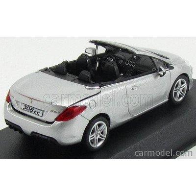 プジョー 308CC ミニカー 1/43 ノレブ NOREV - PEUGEOT - 308CC COUPE CABRIOLET 2011 ALUMINIUM GREY MET