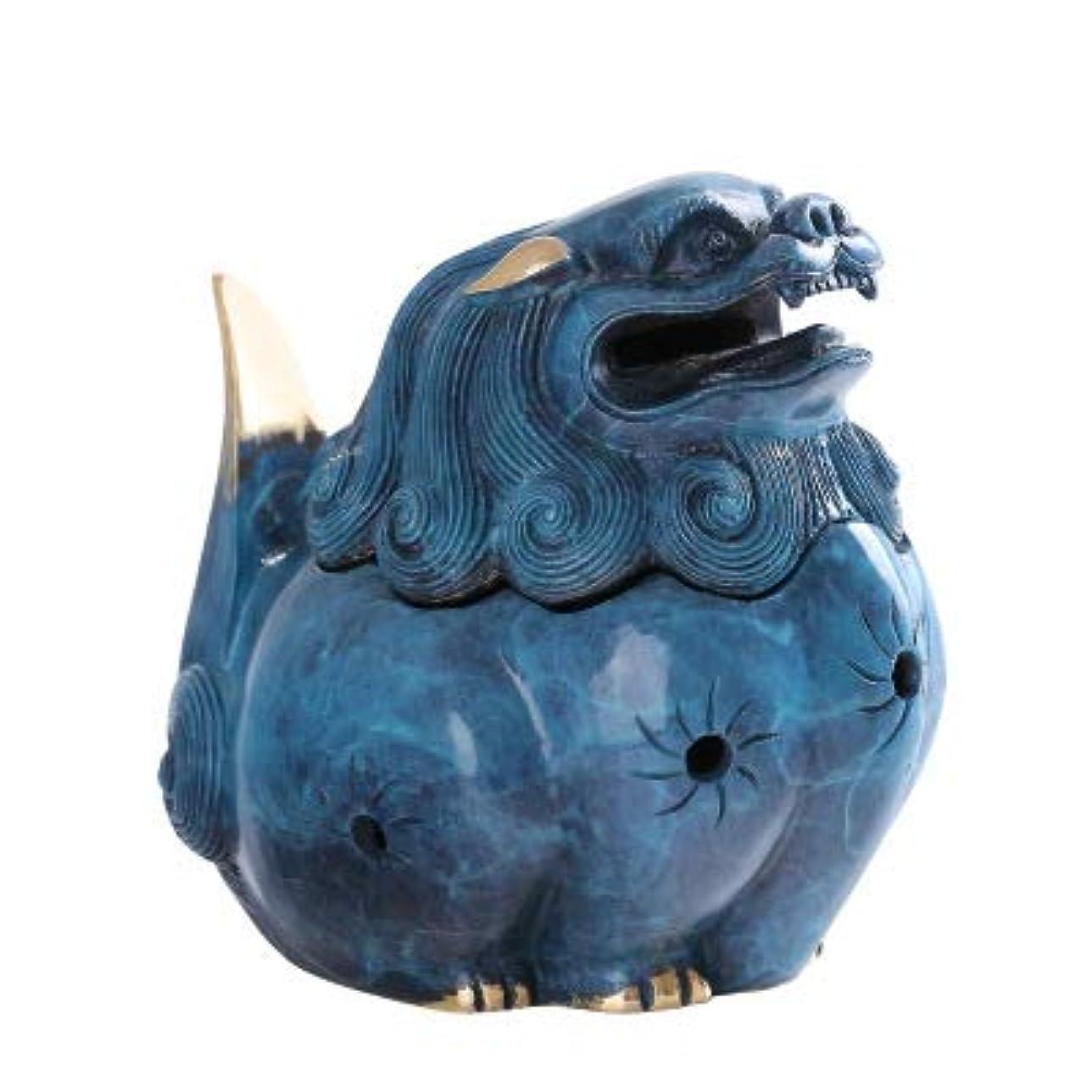 驚くべきあそこ定刻PHILOGOD 陶器香炉 ストーンライオンスタイリング仏壇用香置物 逆流香 倒流香 香皿