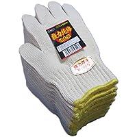 #327【高品質快適】厚くて丈夫な純綿軍手 綿100% 日本製1ダース 厚地の生地で高温の作業でも。