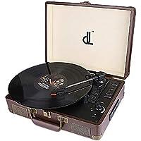 D&L SOUL レコードプレーヤー スピーカー内蔵 usb端子 cd ヘッドホンジャック Bluetooth対応 ブルートゥース SDプレーヤー DL-636BP-NEW