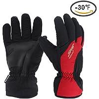 Sharbay防風防水冬暖かい熱手袋寒い天気雪スキースノーボードスノーモービルスキー手袋メンズレディース