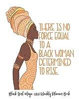 "Black Girl Magic 2020 Weekly Planner Book: Afro Puffs Black Princess Daughter Power Black Girl Magic | 2020 Calendar | Goals | Gratitude | African American | 8 x 10"" Large| Organize | Password | Contacts | Black Queen | Melanin | Gift"