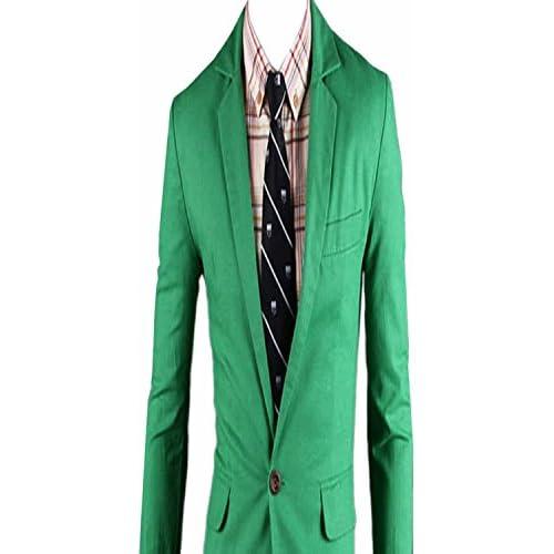 (シャンディニー) Chandeny おしゃれ テーラード ジャケット カラー スーツ ブルゾン 無地 スリム 結婚式 13175 グリーン M サイズ