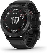 Garmin Fenix 6 Pro, Premium Multisport GPS Smartwatch, Black With Black Band