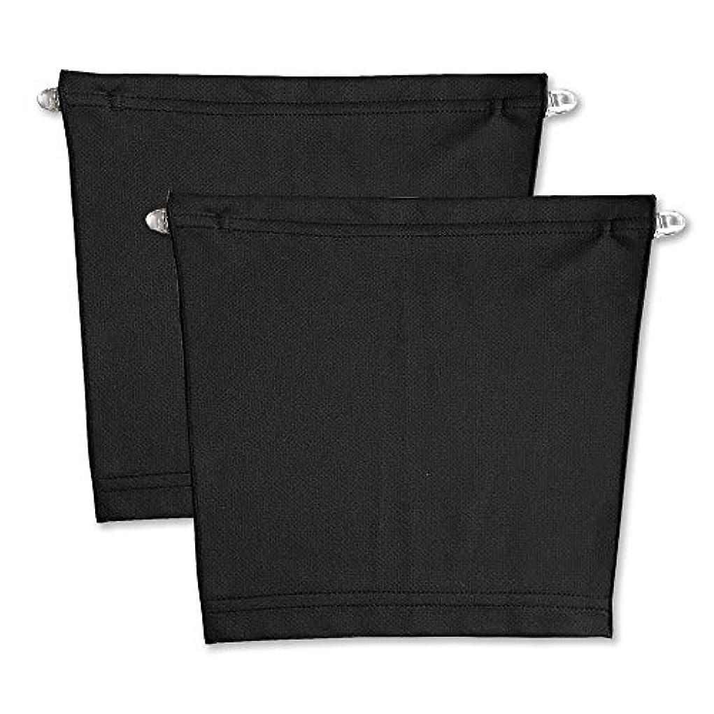 強化する評判提唱するフロントキャミ (2枚組) 胸元隠し UVカット (黒 & 黒)