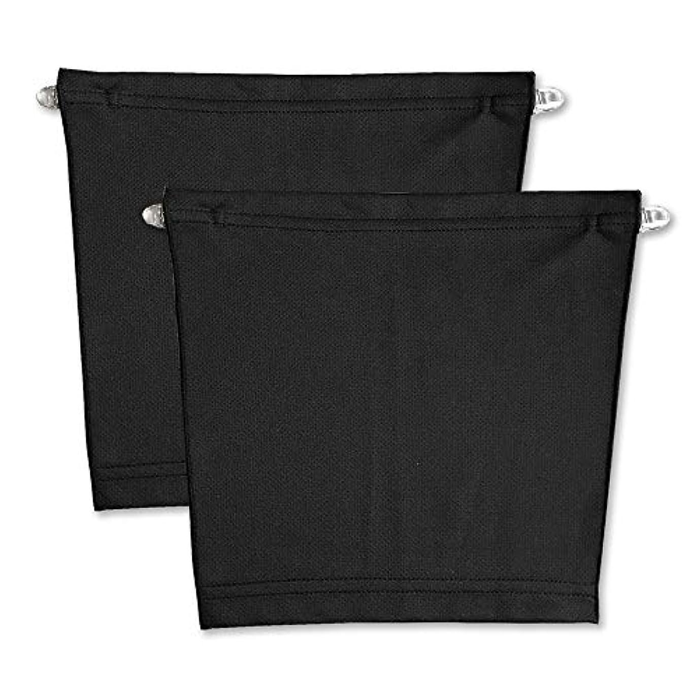 振幅ロッジ従来のフロントキャミ (2枚組) 胸元隠し UVカット (黒 & 黒)