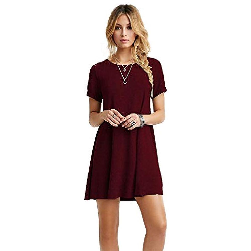 テクニカル破裂判定MIFAN女性のファッション、カジュアル、ドレス、シャツ、コットン、半袖、無地、ミニ、ビーチドレス、プラスサイズのドレス