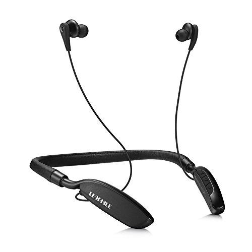 LEOPHILE ZERO ワイヤレス ノイズキャンセリング イヤホン Bluetooth 4.1 ブルートゥース イヤホン ネックバンド式 マイク付き ハンズフリー通話 最大20時間連続再生 ワイヤレス イヤホン(ブラック) 改善版