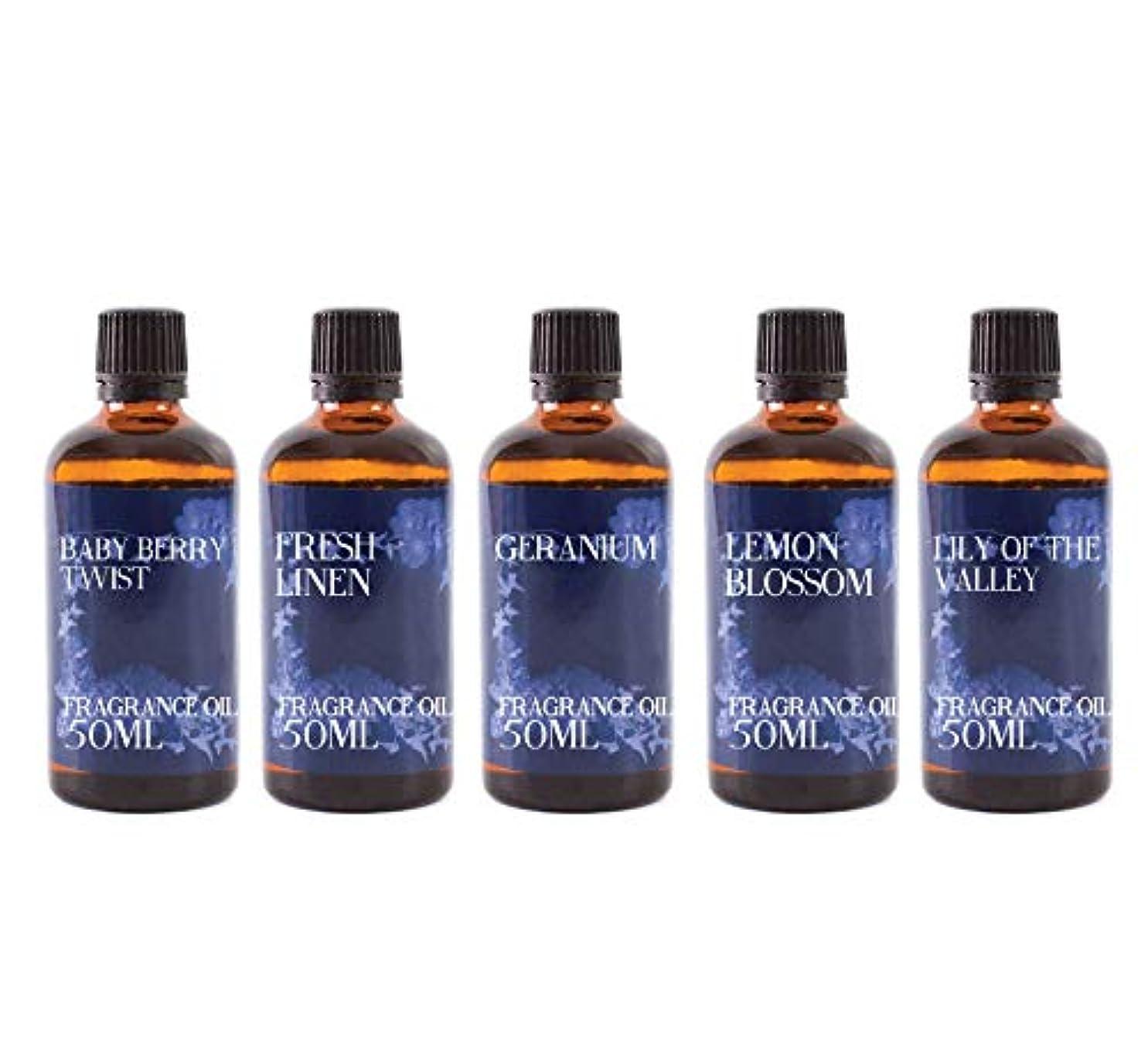 先のことを考えるブース体細胞Mystic Moments | Fragrant Oil Starter Pack - Spring Oils - 5 x 50ml