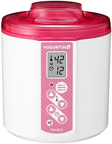 TANICA 温度調節(25~70℃) ・タイマー・ブザー付ヨーグルトメーカー ヨーグルティアS 1200ml YS-01 (ピンク)