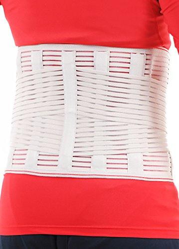 腰痛ベルト 腰 サポーター コルセット 幅広タイプで固定力抜群 メッシュ素材 男女兼用 (ベージュ, M)
