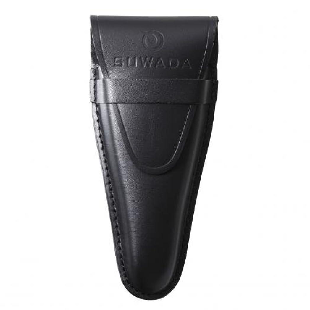 悪行知的叫び声【SUWADA】 爪切り用本革ケースクラシックL用 色=ブラック