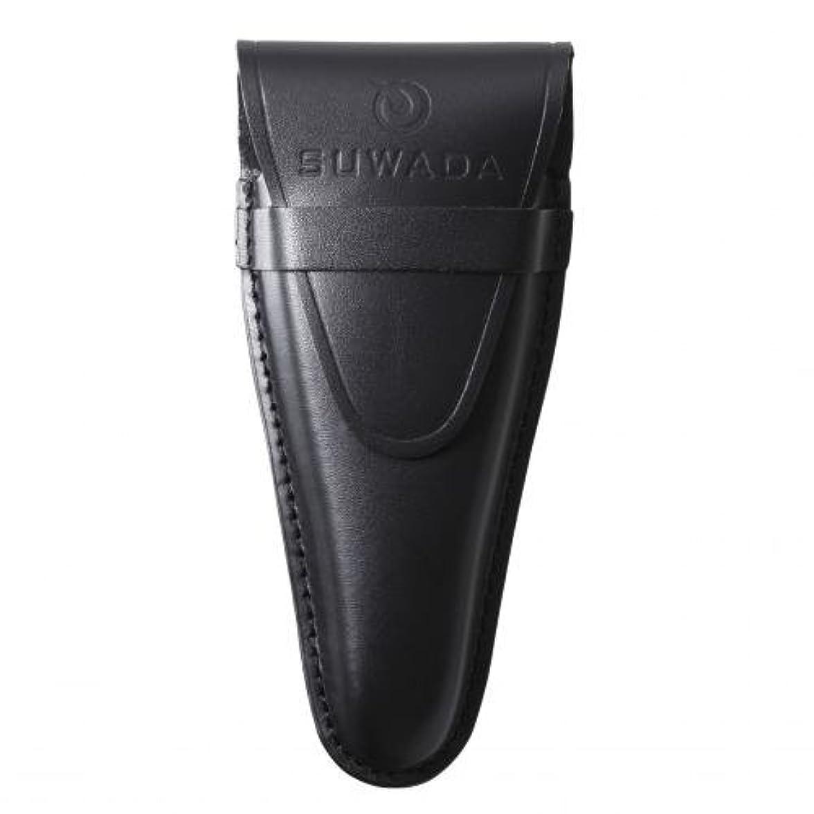うま対称高揚した【SUWADA】 爪切り用本革ケースクラシックL用 色=ブラック