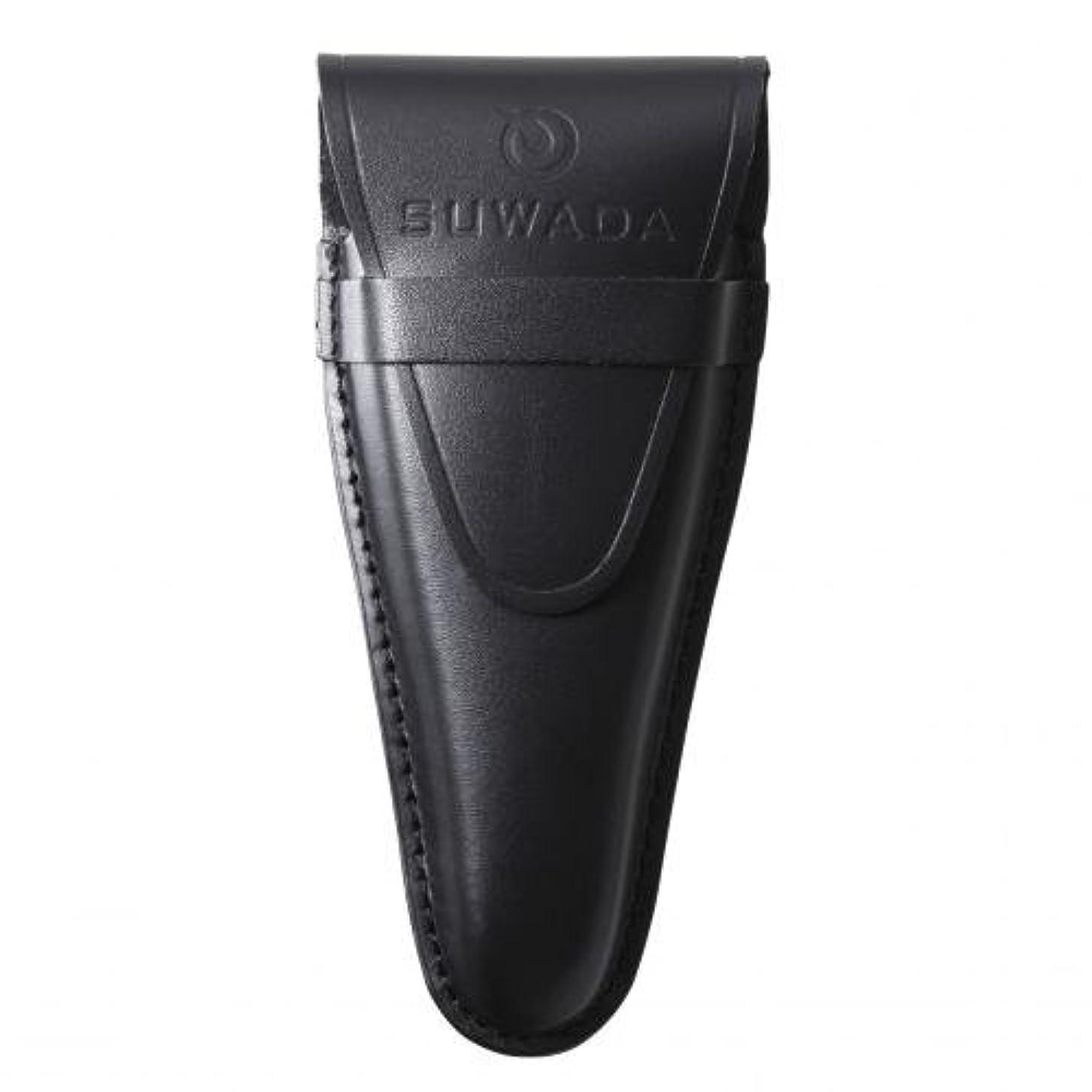 スコア受けるおばさん【SUWADA】 爪切り用本革ケースクラシックL用 色=ブラック