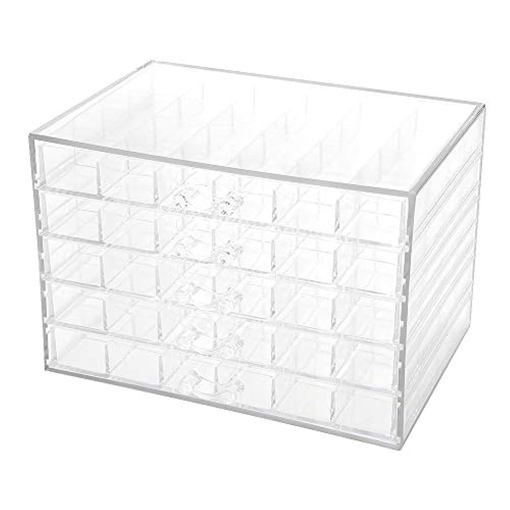 ホース怖い境界ネイルデコレーション収納ボックス、120グリッドネイルデコレーションシーケンス整理ボックス透明な空のネイルアート収納ボックス、ネイルアート機器