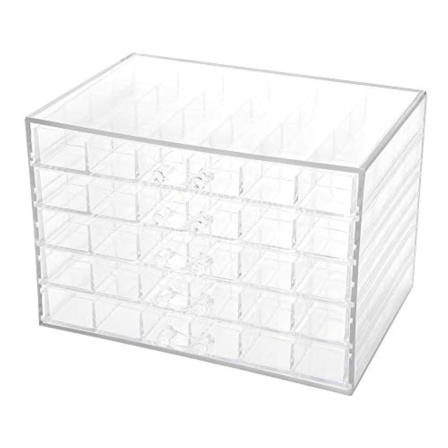 キャラクター出血生物学ネイルデコレーション収納ボックス、120グリッドネイルデコレーションシーケンス整理ボックス透明な空のネイルアート収納ボックス、ネイルアート機器