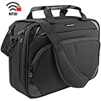 KROSER Laptop Bag 15.6 Inch Laptop Briefcase Laptop Messenger Bag Water Repellent Computer Case Laptop Shoulder Bag Durable Tablet Sleeve with RFID Pockets for Business/College/Women/Men-BlackBlue