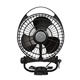 Caframo Bora. 12V Marine Fan. Direct Wire, Low Draw, 5000 Hour Motor Life. Black.