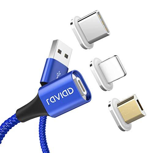 マグネット式 充電ケーブル RAVIAD ライトニングケーブル Micro ...
