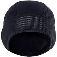 Zhhlinyuan 良質 冬 屋外の 風防 Thick 暖かい スポーツ Hat Black ユニセックス Lightweight Breathable Skull Cap