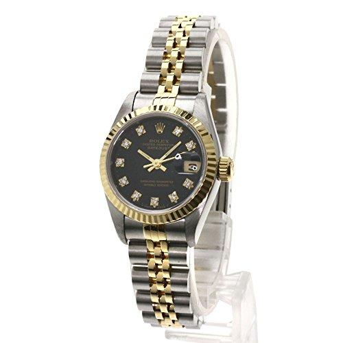 ROLEX(ロレックス) デイトジャスト 10Pダイヤモンド 腕時計 ステンレス/SSxK18YG レディース (中古)