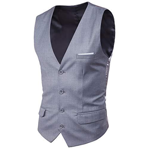 e06f947283517 Blissmall ジレ ベスト メンズ フォーマル 結婚式 紳士 スリム スーツ仕立て スーツベスト 上質 尾錠付き