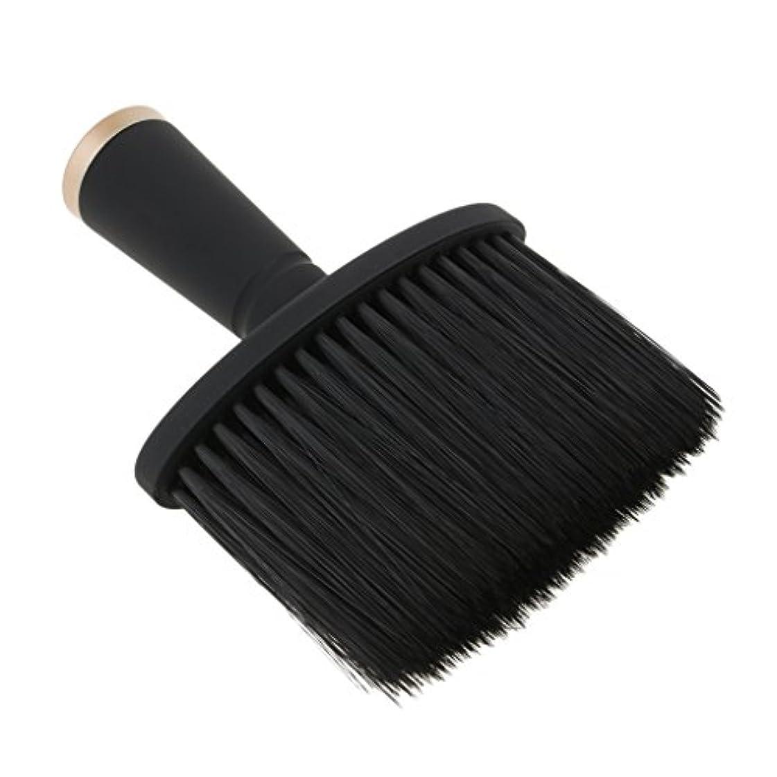 おもしろい楕円形広告主ネックダスターブラシ ヘアカット ヘアブラシ ソフト サロン ヘアスタイリスト 理髪 全2色 - ゴールド