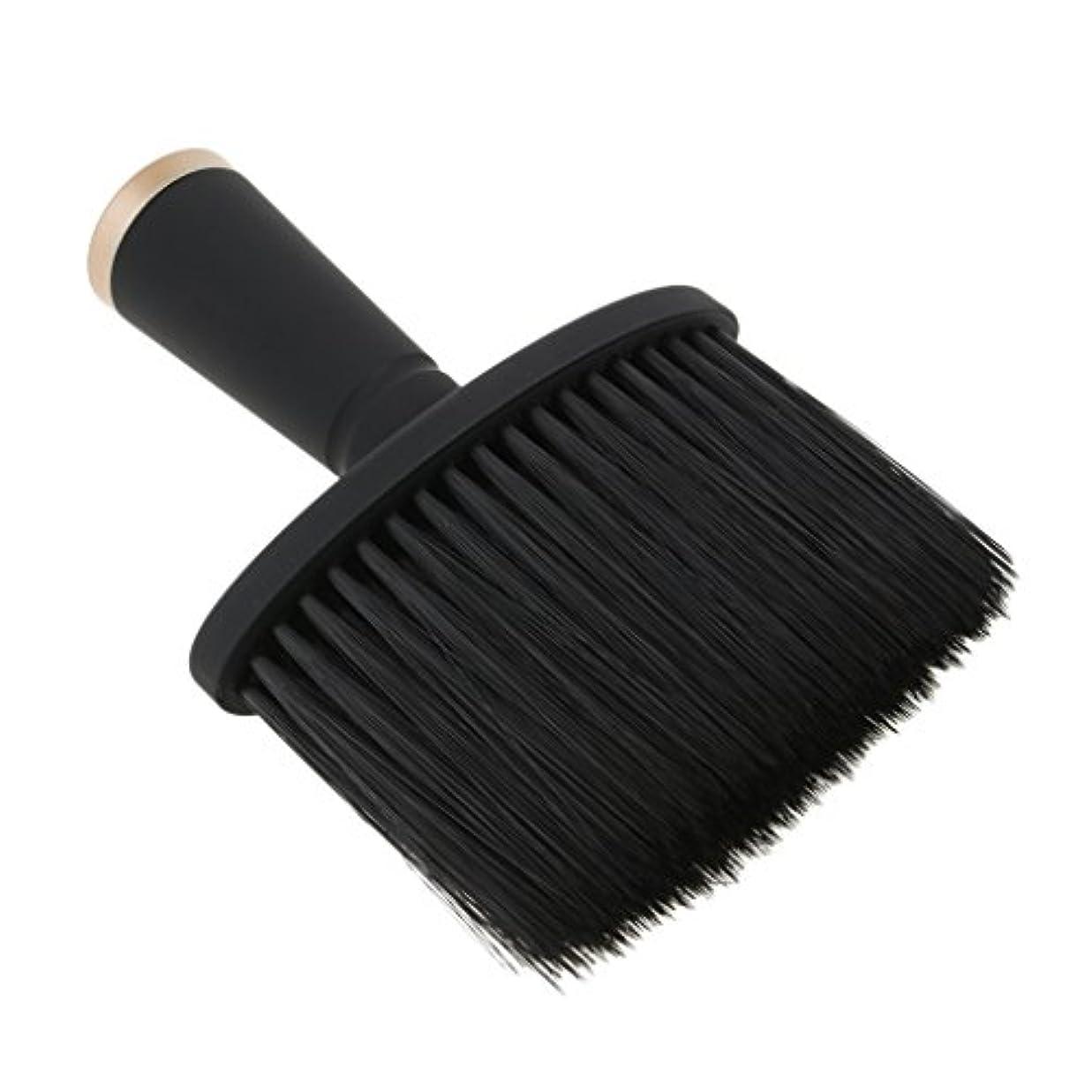 脱臼するお酢フィヨルドKesoto ネックダスターブラシ ヘアカット ヘアブラシ ソフト サロン ヘアスタイリスト 理髪 全2色 - ゴールド