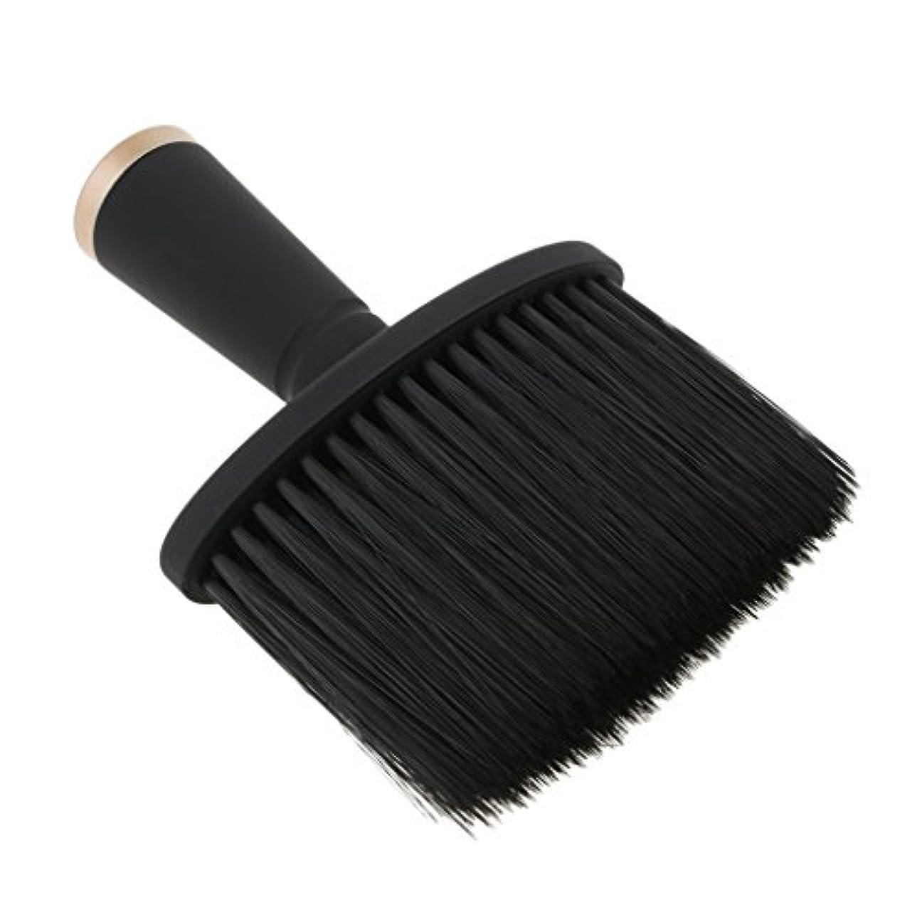 トレッド強盗あるKesoto ネックダスターブラシ ヘアカット ヘアブラシ ソフト サロン ヘアスタイリスト 理髪 全2色 - ゴールド