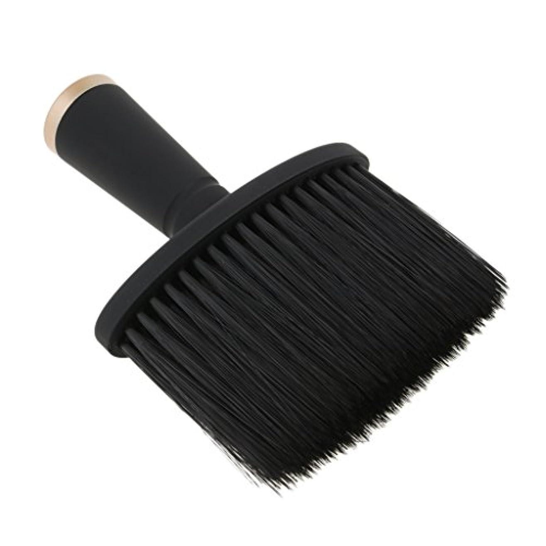 同僚フィラデルフィア経由でFutuHome 専門の理髪師の首の塵払いのブラシ、毛の切断のための柔らかいクリーニングの表面ブラシ、携帯用設計 - ゴールド